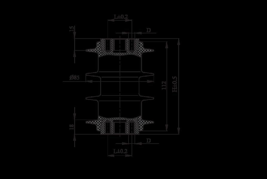 Изоляторы опорные полимерные типа ОСК 8-10-1 на напряжение 10 кВ